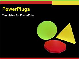 Colorful shapes template for powerpoint