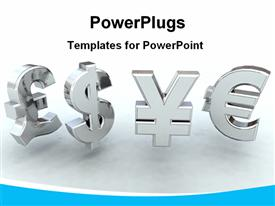 Currencies powerpoint template