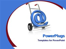 Symbol of a email delivery powerpoint template