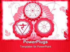 Hindu religious symbols with red color powerpoint theme