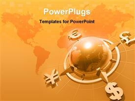World wide money concept powerpoint template