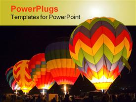 Hot air balloons getting ready to take off powerpoint theme