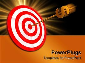Darts with dollar sign powerpoint theme