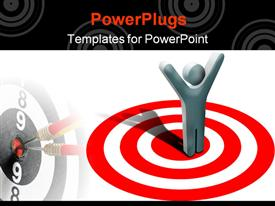 Concept at winning in business on target powerpoint theme