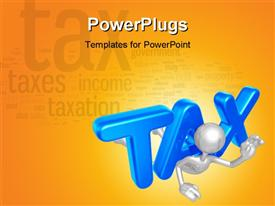 Word cloud with taxes and taxation themed words powerpoint template