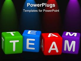 Team (buzzword colorful cubes 3D hires series) presentation background