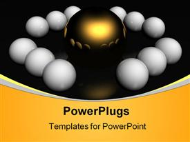 PowerPoint template displaying a number of eggs along with a golden one in the center