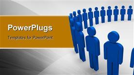 PowerPoint template displaying team circle blue community social teamwork