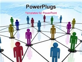 Composition of a Team work in network template for powerpoint