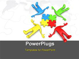 Computer generated image - Team Thinking powerpoint design layout