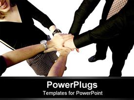 Team working together template for powerpoint