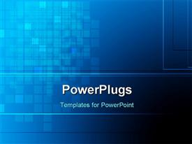 PowerPoint template displaying abstract dark blue color checks background