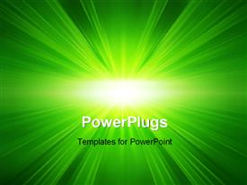 PowerPoint template displaying blue & green background, zooming effect