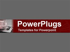 PowerPoint template displaying computer tower with open disk drive on red and gray background