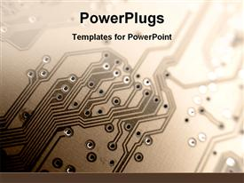 PowerPoint template displaying a close up view of the inside of an equipment or machinery