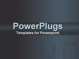 PowerPoint template displaying technology written in digital text on a fading blue background