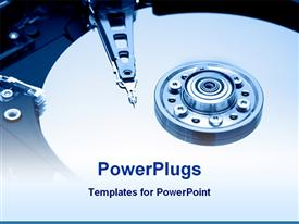 PowerPoint template displaying hardware technology tools and hardware roll with pin for technology theme
