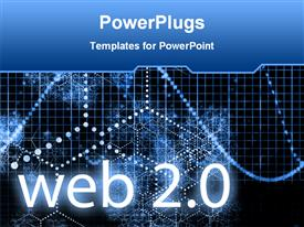 PowerPoint template displaying the word web 2.0 with various beads in the background