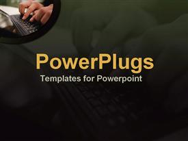 Using a PDA for wireless communication template for powerpoint