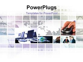 Set of technology photos collage it is made from my images powerpoint design layout
