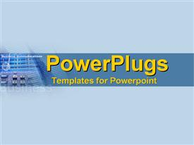 PowerPoint template displaying corporate telecommunications feel for big business