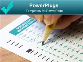 Test sheet powerpoint design layout