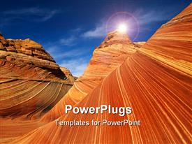Red rocks of Pariah canyon in Utah Southwest USA powerpoint theme