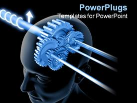 Concept of thinking. The image can be interpreted in two ways powerpoint design layout