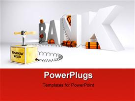 PowerPoint template displaying the word bank with a number of dynamites