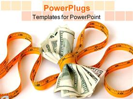 PowerPoint template displaying financial constraints responsibility tight on money less spending sales decrease business