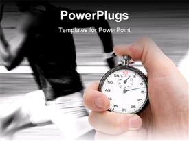 PowerPoint template displaying employee Performance Measurement in the background.