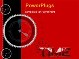 PowerPoint template displaying a speedometer with a text that spells out the word