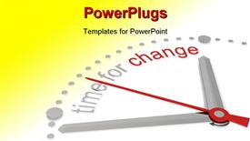 PowerPoint template displaying time for Change. Red and steel Edition