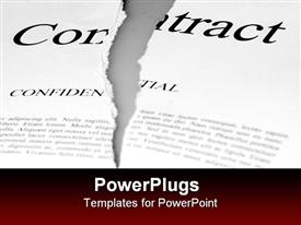 Torn up contract powerpoint template