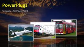 PowerPoint template displaying transport background