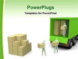 Cargo truck powerpoint design layout