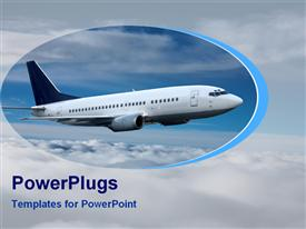 Flight in sky powerpoint design layout
