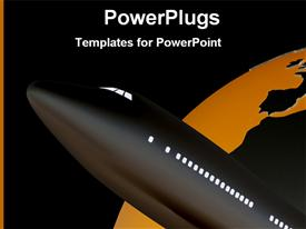 PowerPoint template displaying flight and world in the background.