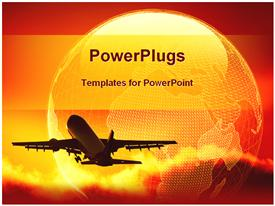 Global transportation powerpoint template