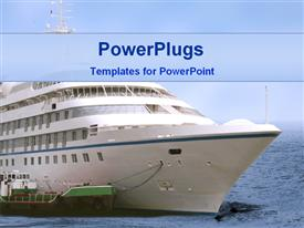 PowerPoint template displaying ship in sea in the background.
