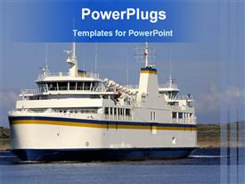 Ship in sea powerpoint theme