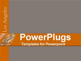 PowerPoint template displaying a plain ash coored background with with a text that spells out the word