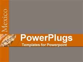 PowerPoint template displaying simple grey background with place for text in front