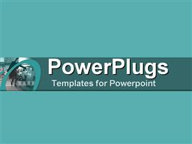 PowerPoint template displaying a professional lady with bluish background and place for text