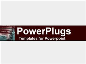 PowerPoint template displaying a plain clear white background tile with a person holding a briefcase