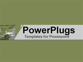 PowerPoint template displaying rear of jet plate on green background