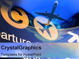 PowerPoint template displaying collage of airplane depictions