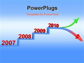 PowerPoint template displaying trend in the future business plan or other plan in the background.