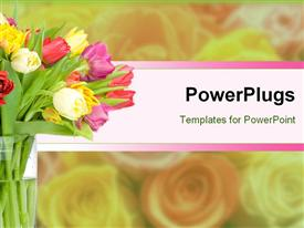 Tulips in the vase template for powerpoint