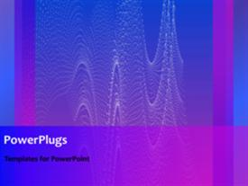 PowerPoint template displaying abstract animated tiny wave lines on purple background